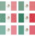 Mosaic Mexico flag set vector image vector image