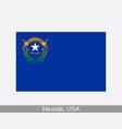 nevada usa state flag nv usa vector image