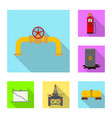 oil and gas icon vector image