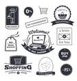 Online shopping signs set vector image vector image