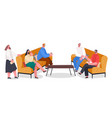 people spending time together home reception vector image vector image