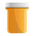 pills plastic jar icon cartoon style vector image