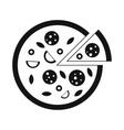 Pizza icon simple style vector image vector image