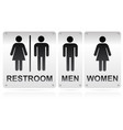 restroom signs vector image