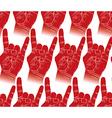 Rock hands seamless pattern rock metal rock and vector image vector image