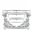 Royal Baroque Classic Commode table vector image vector image