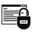 secured program icon simple style vector image