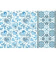 Set of cute seamless backgrounds with vector image vector image