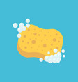 sponge with bubbles icon isolated on white vector image vector image