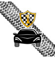 sports car racing vector image vector image