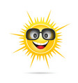sun happy with sunglasses vector image vector image