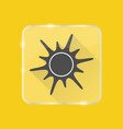 sun silhouette icon in flat style on transparent vector image vector image