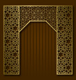 traditional background golden arched frame vector image