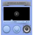 User interface elements vector image vector image