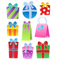 various decorated gifts 2 vector image