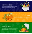 Vegetables Flat Isolated Banner Set vector image vector image