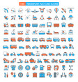 vehicles big icons set vector image vector image
