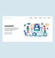 web site design template photo studio vector image vector image