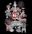 welcome to jakarta cartoon vector image vector image