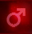 neon icon symbol male gender vector image