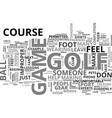a quick course for the golf course does don ts vector image vector image