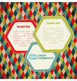 Abstract web design bubble Infographic background vector image