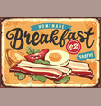 bacon boiled eggs and ingredients vector image vector image