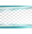 Blue tech stripes corporate transparent design vector image vector image