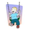 boy playing on swing image vector image