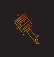 brush icon design vector image vector image