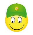 cartoon emoticon smiley vector image