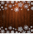 christmas snowflakes on wood background vector image vector image