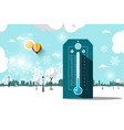 cold weather symbol frozen park flat design vector image vector image