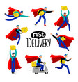 delivery courier character vector image