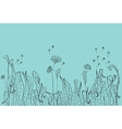 doodle tender Nature background vector image vector image