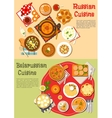 Everyday meals of russian and belarusian cuisine vector image vector image