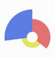 flat icon on stylish background circular economic vector image vector image