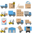 Flat Icons Shipping vector image