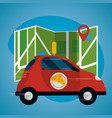 food order delivery vector image