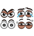 four set of eyes with different expressions vector image