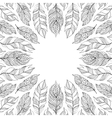 frame with abstract feathers vector image