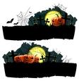 Halloween banner set vector image