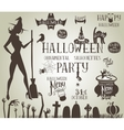Halloween silhouettes for decor vector image vector image