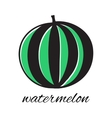 Hand drawn watermelon in doodle style vector image vector image