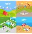 Holiday Barbecue Hiking and Amusement Park vector image