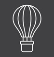 hot air balloon line icon transport and air vector image vector image