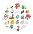 information icons set isometric style vector image vector image
