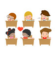 kids in classroom child in classroom vector image