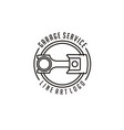 line art pistonfor automotive logo design vector image