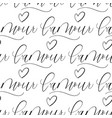 love in french modern seamless grunge pattern vector image
